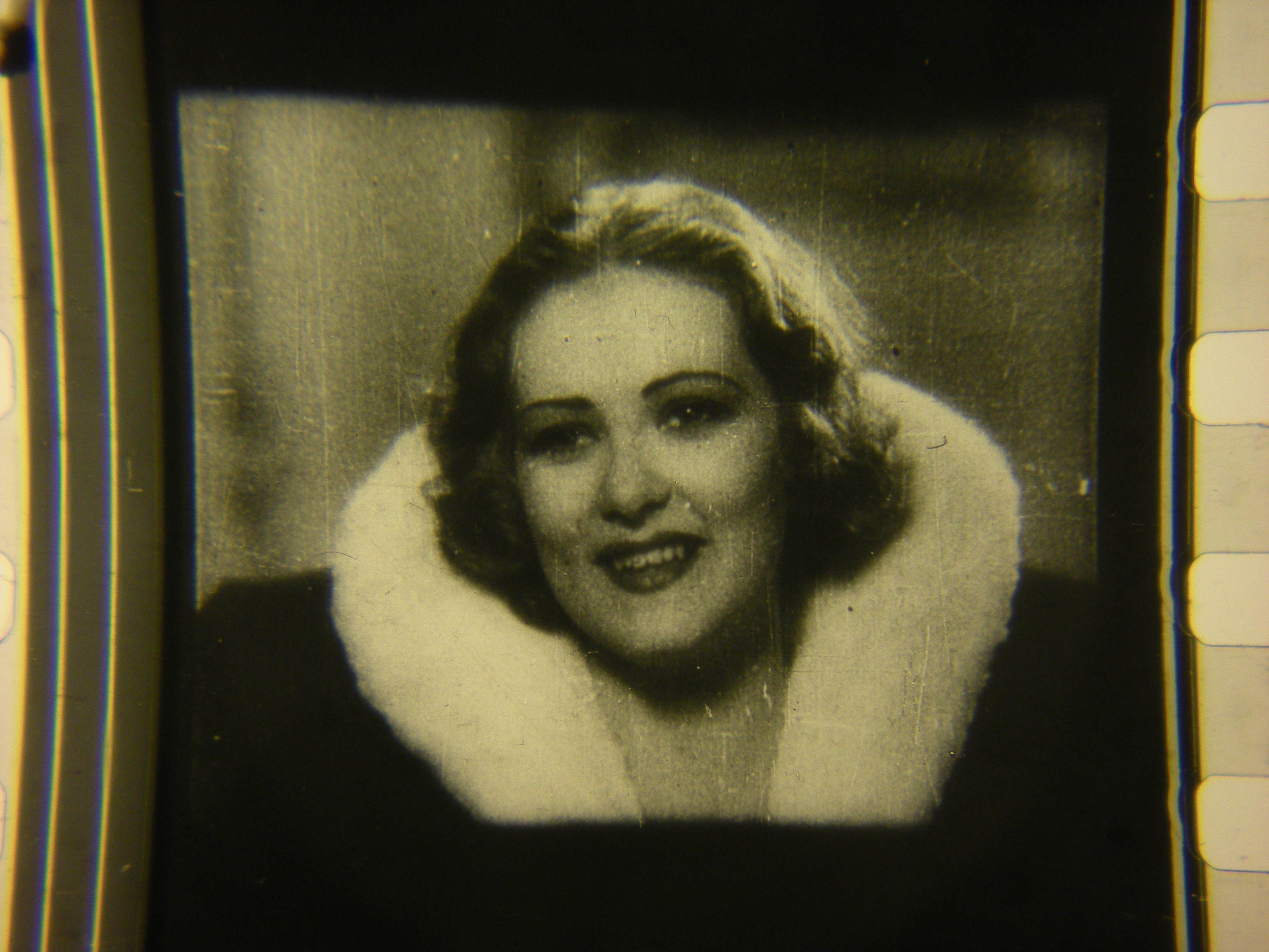 Fur collar lady, close up.A common face on films from the 1930s.
