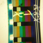 16mm color bars, sans girl.
